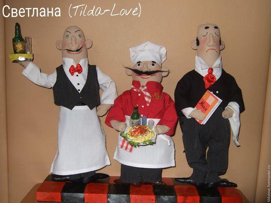 """Куклы и игрушки ручной работы. Ярмарка Мастеров - ручная работа. Купить Трио """"Buon appetito!"""". Handmade. Комбинированный, подарок, повара"""