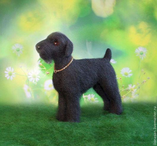 Игрушки животные, ручной работы. Ярмарка Мастеров - ручная работа. Купить Русский чёрный терьер Чара (игрушка собака). Handmade.