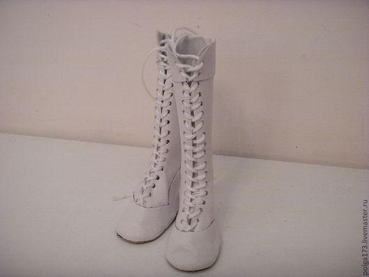 Одежда для кукол ручной работы. Ярмарка Мастеров - ручная работа. Купить Высокие сапожки со шнуровкой для Тильды. Handmade. Белый