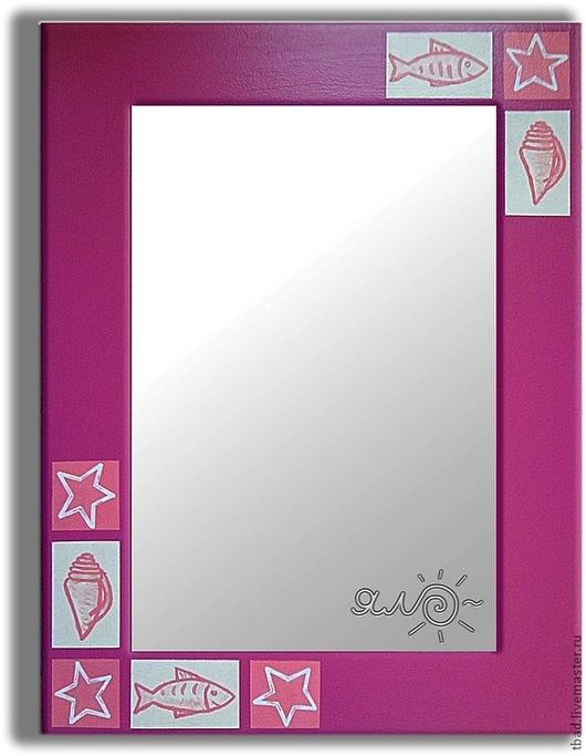 Зеркала ручной работы. Ярмарка Мастеров - ручная работа. Купить Зеркало настенное розовое Ракушки. Handmade. Розовый, интерьер