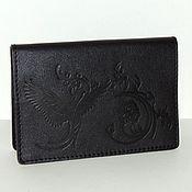 Канцелярские товары handmade. Livemaster - original item Passport cover leather black.. Handmade.