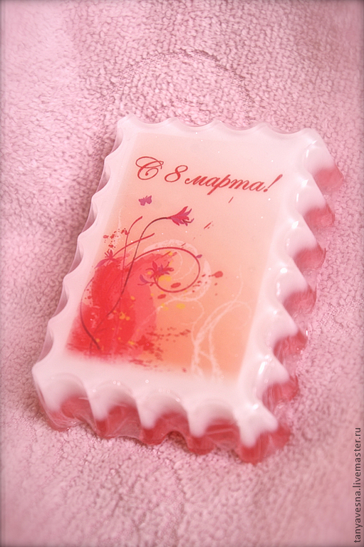 Мыло ручной работы. Ярмарка Мастеров - ручная работа. Купить Мыло Весенняя нежность 8 марта в подарочной коробочке. Handmade.