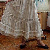 Одежда ручной работы. Ярмарка Мастеров - ручная работа Сарафан летний льняной в бохо-стиле. Handmade.