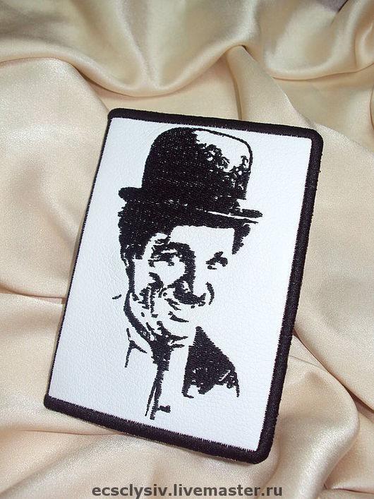"""Обложки ручной работы. Ярмарка Мастеров - ручная работа. Купить Обложка для паспорта  """" Чарли Чаплин """". Handmade."""