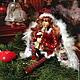 Рождественский ангел.  Возможно исполнение в различной цветовой гамме.