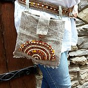 Одежда handmade. Livemaster - original item BOHO Embroidered belt and hip bag