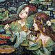 Символизм ручной работы. Ярмарка Мастеров - ручная работа. Купить русалки (фрагмент картины в мозаике, копия). Handmade. Комбинированный, русалки