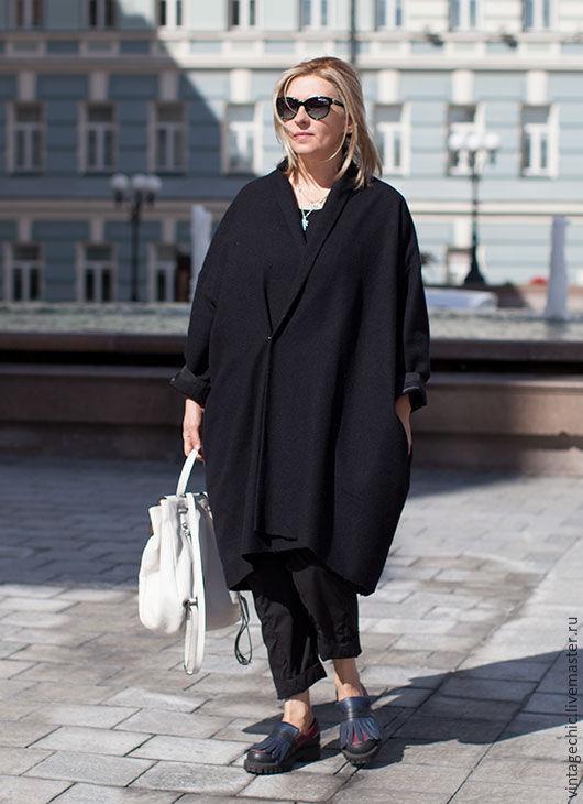 Верхняя одежда ручной работы. Ярмарка Мастеров - ручная работа. Купить Пальто оверсайз из легкой шерсти art.141c. Handmade.