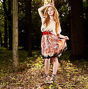"""Одежда ручной работы. Ярмарка Мастеров - ручная работа Платье из шифона до колена """"Хельсинки 2А"""". Handmade."""