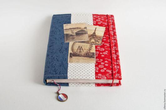 Блокноты ручной работы. Ярмарка Мастеров - ручная работа. Купить Французский. Handmade. Комбинированный, ежедневник ручной работы, хлопок 100%