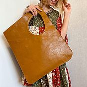 Сумки и аксессуары handmade. Livemaster - original item Bag made of genuine leather, shopper. Handmade.