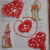 Подарки к праздникам ручной работы. Ярмарка Мастеров - ручная работа Кружевные сердечки-валентинки. Handmade.