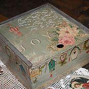 """Для дома и интерьера ручной работы. Ярмарка Мастеров - ручная работа Чайный короб """"Joy"""". Handmade."""