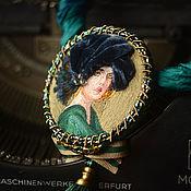 Украшения ручной работы. Ярмарка Мастеров - ручная работа брошь-кулон Esmeralda. Handmade.