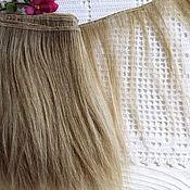 "Материалы для творчества handmade. Livemaster - original item Copy of mohair weft Blond, doll hair, 200-220"", 100 g. Handmade."