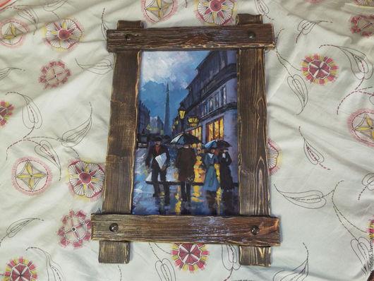Город ручной работы. Ярмарка Мастеров - ручная работа. Купить Картина акрил. Handmade. Комбинированный, краски акриловые, Дерево натуральное
