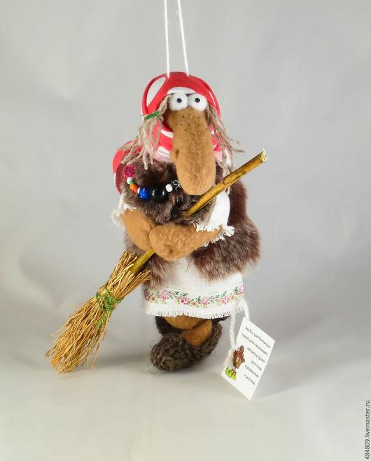 Сказочные персонажи ручной работы. Ярмарка Мастеров - ручная работа. Купить Баба-Яга мини-4(бронь). Handmade. Коричневый, защитница