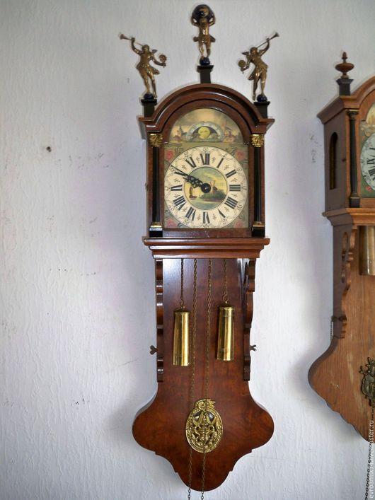 Винтажные предметы интерьера. Ярмарка Мастеров - ручная работа. Купить Настенные маятниковые часы 110 см Голландия. Handmade.