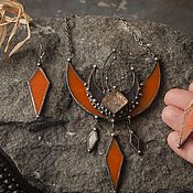 Украшения handmade. Livemaster - original item Three-Story Moonstone dream Keeper pendant (pl-001). Handmade.