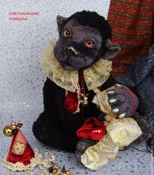 """Мишки Тедди ручной работы. Ярмарка Мастеров - ручная работа. Купить плюшевая обезьянка """"Шимпанзе Арчи"""". Handmade. Комбинированный"""