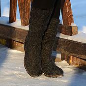 """Обувь ручной работы. Ярмарка Мастеров - ручная работа Сапоги валяные """"Black"""". Handmade."""
