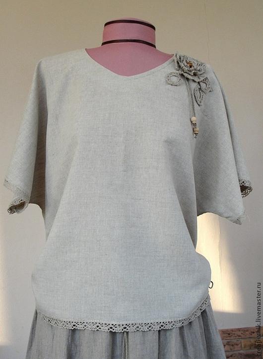 Льняная блузка доставка