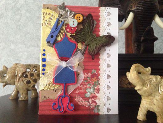 """Открытки для женщин, ручной работы. Ярмарка Мастеров - ручная работа. Купить Открытка """"Кутюрье"""" - выполнена из качественных материалов.. Handmade. открытки"""