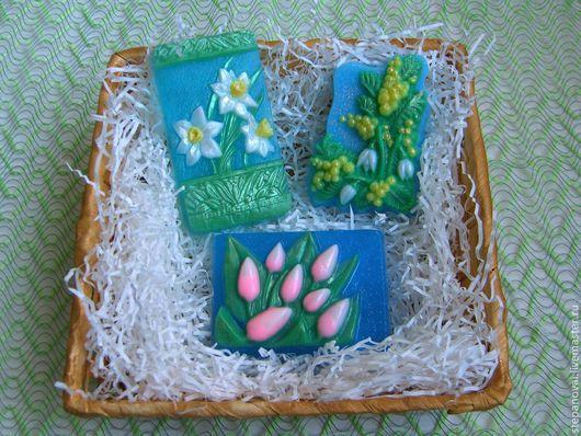 Мыло ручной работы. Ярмарка Мастеров - ручная работа. Купить мыло ручной работы - Первые весенние цветы. Handmade. Мимоза