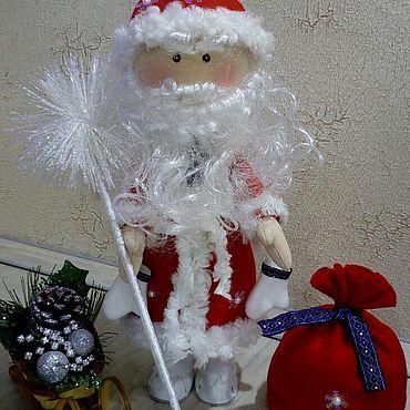 Куклы и игрушки ручной работы. Ярмарка Мастеров - ручная работа Тильды: Дед Мороз. Handmade.