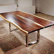 Столы ручной работы. Ярмарка Мастеров - ручная работа Огромные столы из слэбов экзотических пород дерева. Handmade.