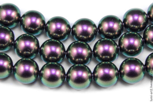 Для украшений ручной работы. Ярмарка Мастеров - ручная работа. Купить 8мм Iridescent Purple Жемчуг Сваровски Swarovski Perl 10 шт. Handmade.
