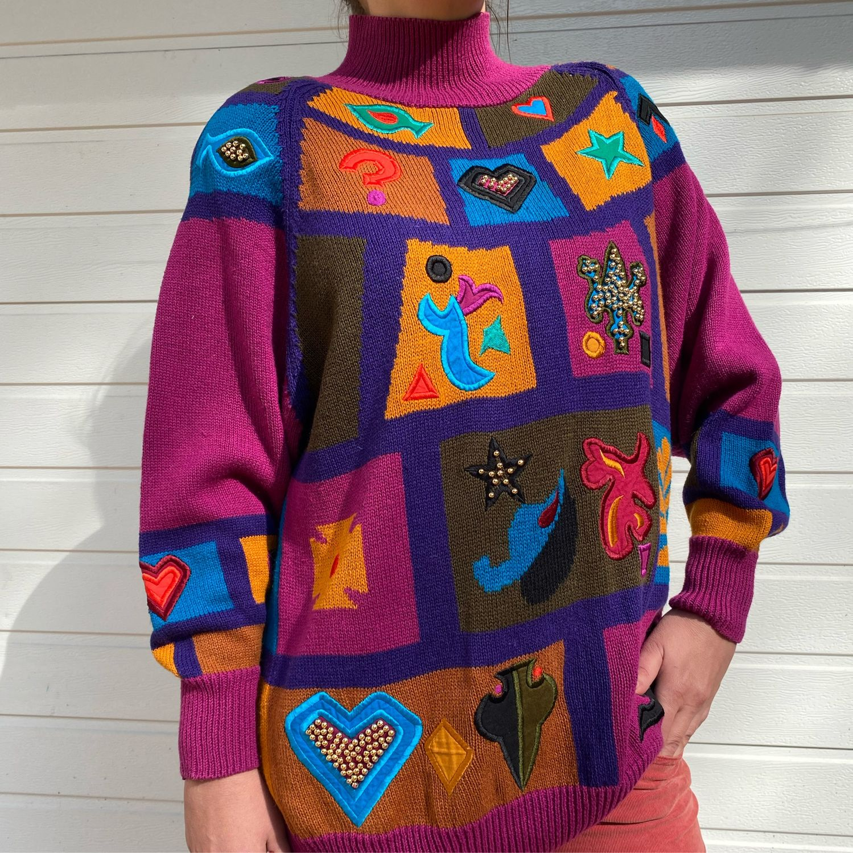 Винтаж: Винтажный свитер «Миллениум», Одежда винтажная, Абрамцево,  Фото №1