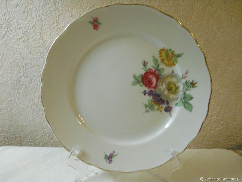 Винтаж: Фарфоровые обеденные тарелки  Tirschenreuth, Тарелки винтажные, Калининград,  Фото №1