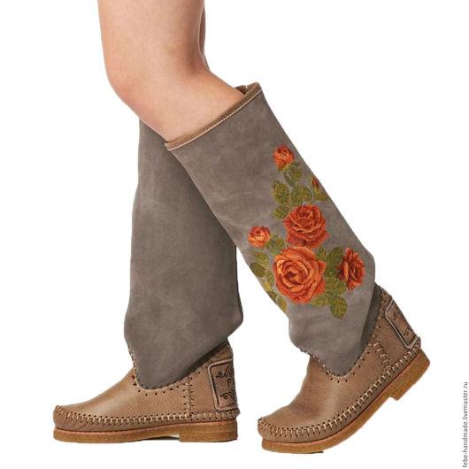 Обувь ручной работы. Ярмарка Мастеров - ручная работа. Купить Зимние сапоги на овчине ROSA /мраморные/36- 37 размер в наличие. Handmade.