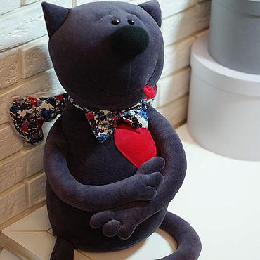 Интерьерная игрушка Котик Сережик, подарок для любимых, игрушки декор