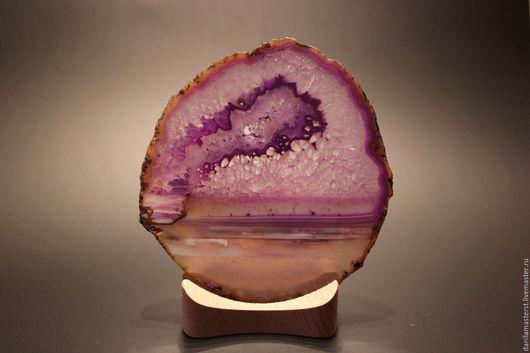 Статуэтки ручной работы. Ярмарка Мастеров - ручная работа. Купить срез агата фиолетовый 12,8х11,7 см. Handmade.