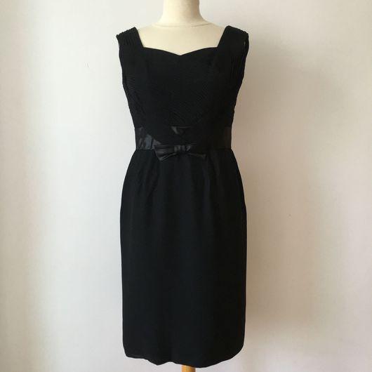 Одежда. Ярмарка Мастеров - ручная работа. Купить Винтажное коктейльное  платье 1950'х. Handmade. Коктейльное платье, черное платье