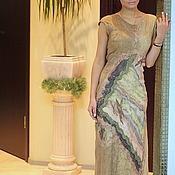 Одежда ручной работы. Ярмарка Мастеров - ручная работа платье валяние бежевое. Handmade.