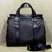 Classic Bag handmade. Livemaster - original item Women`s leather bag ANASTASIA black and brown. Handmade.