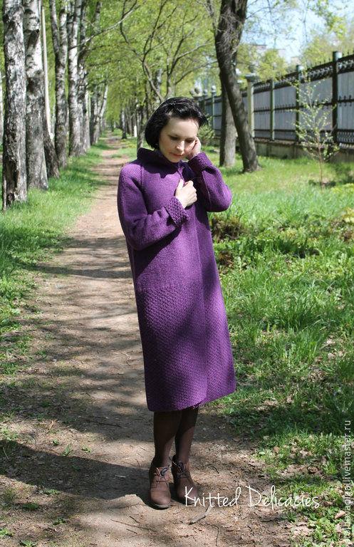 """Верхняя одежда ручной работы. Ярмарка Мастеров - ручная работа. Купить Пальто """" The bohemian """". Handmade. Фиолетовый"""
