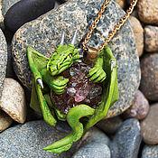 Подвеска ручной работы. Ярмарка Мастеров - ручная работа Кулон с драконом. Handmade.