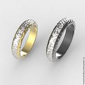 """Свадебный салон ручной работы. Ярмарка Мастеров - ручная работа Обручальные кольца """"Разные, но одинаковые"""" из золота, из титана. Handmade."""