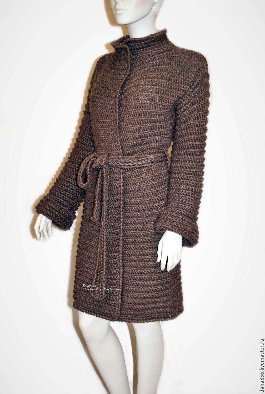 вязаное пальто пальто связанное крючком верди 1 купить в