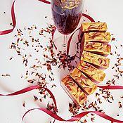 Мыло ручной работы. Ярмарка Мастеров - ручная работа Натуральное мыло с нуля на фруктовом вине Пряные фрукты вишневый. Handmade.