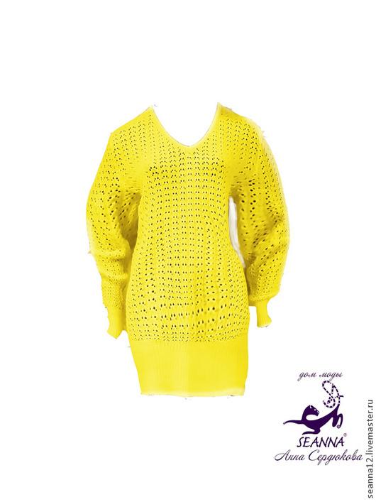 """Большие размеры ручной работы. Ярмарка Мастеров - ручная работа. Купить Платье-свитер-туника вязаное в любых размерах """"Универсальное"""". Handmade."""