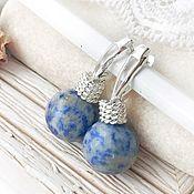 Украшения handmade. Livemaster - original item Earrings blue sodalite English castle silver stones blue. Handmade.