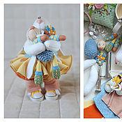 Куклы и игрушки ручной работы. Ярмарка Мастеров - ручная работа Зайцы. Зайка и зай.. Handmade.