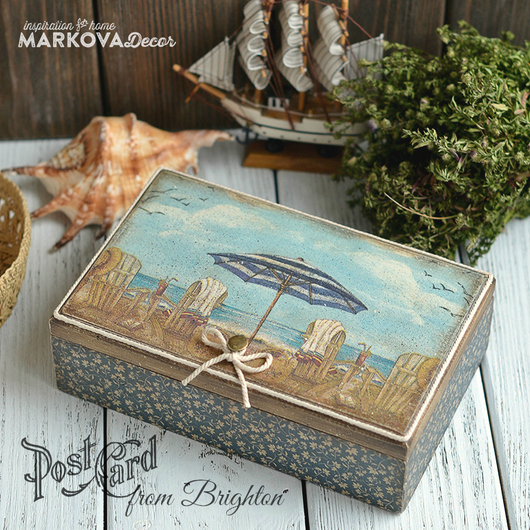 Ольга Маркова ~ MARKOVA DECOR~  чайный короб `Brighton`