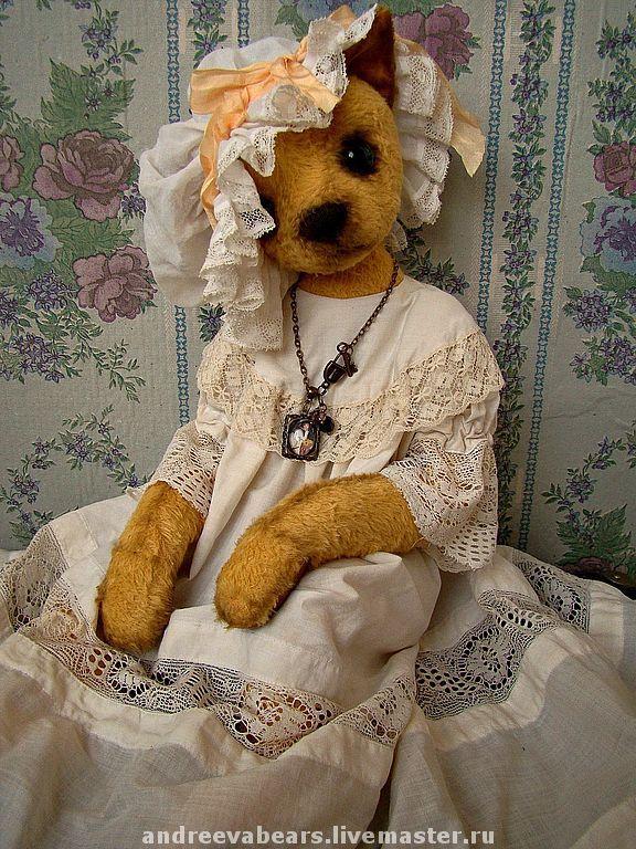 Teddy Bears handmade. Livemaster - handmade. Buy Cat 'Josephine'.Teddy bears, cat, gift girl, vintage accessories, viscose
