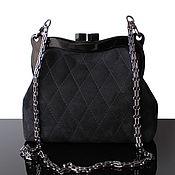 Clutches handmade. Livemaster - original item Designer Black suede clutch bag. Handmade.